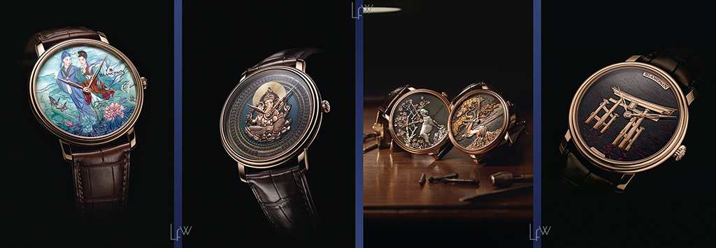 The Blancpain Metiers d'Art department also works with select Japanese artisanal techniques
