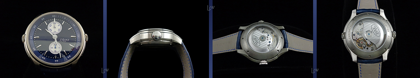 The first DR Loke watch model revolves around the concept of the chronograph dress watch
