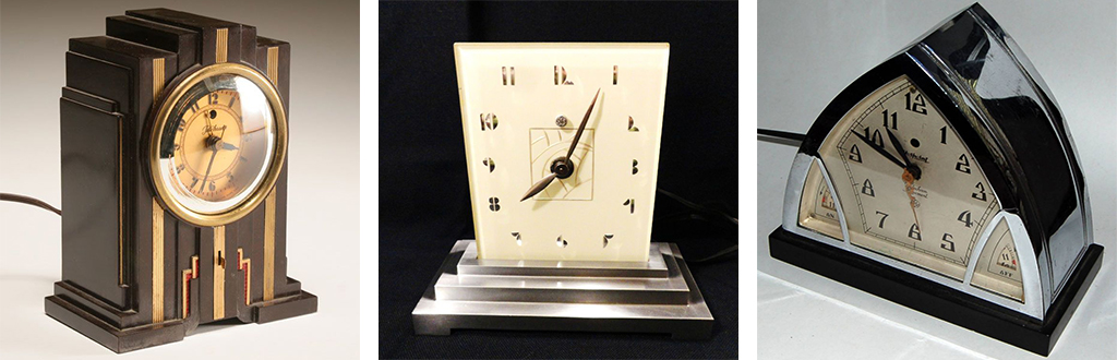 Art deco electric clocks by GE and Telechron