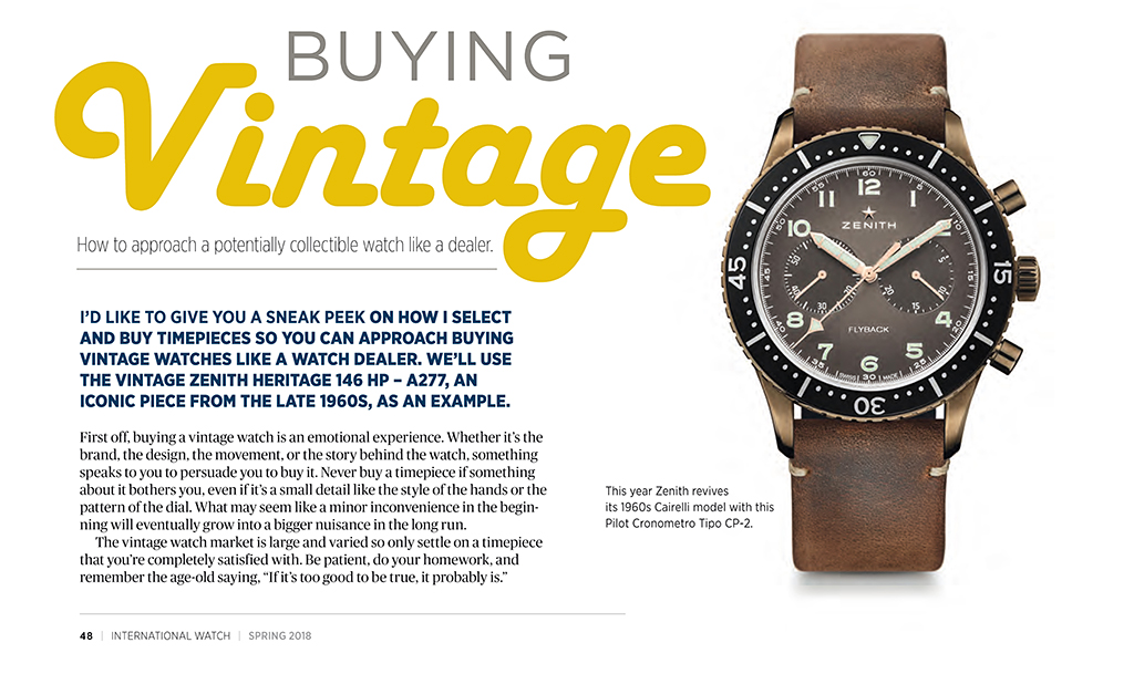 iW [international Watch] Magazine Spring issue