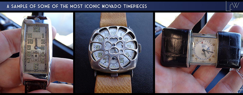A sample of the most iconic Movado timepieces