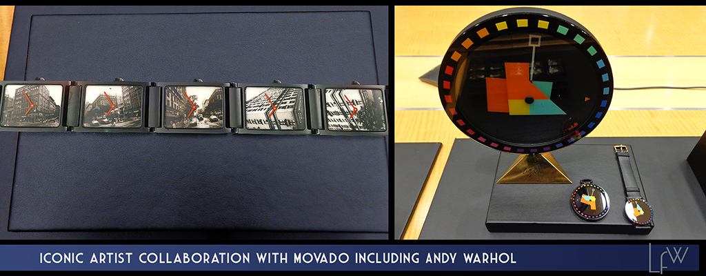 Iconic Artist collaboration with Movado including Andy Warhol