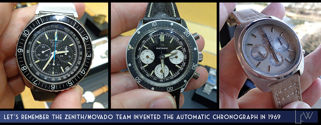 Let's remember the Zenith/Movado team invented the Automatic Chronograph in 1969