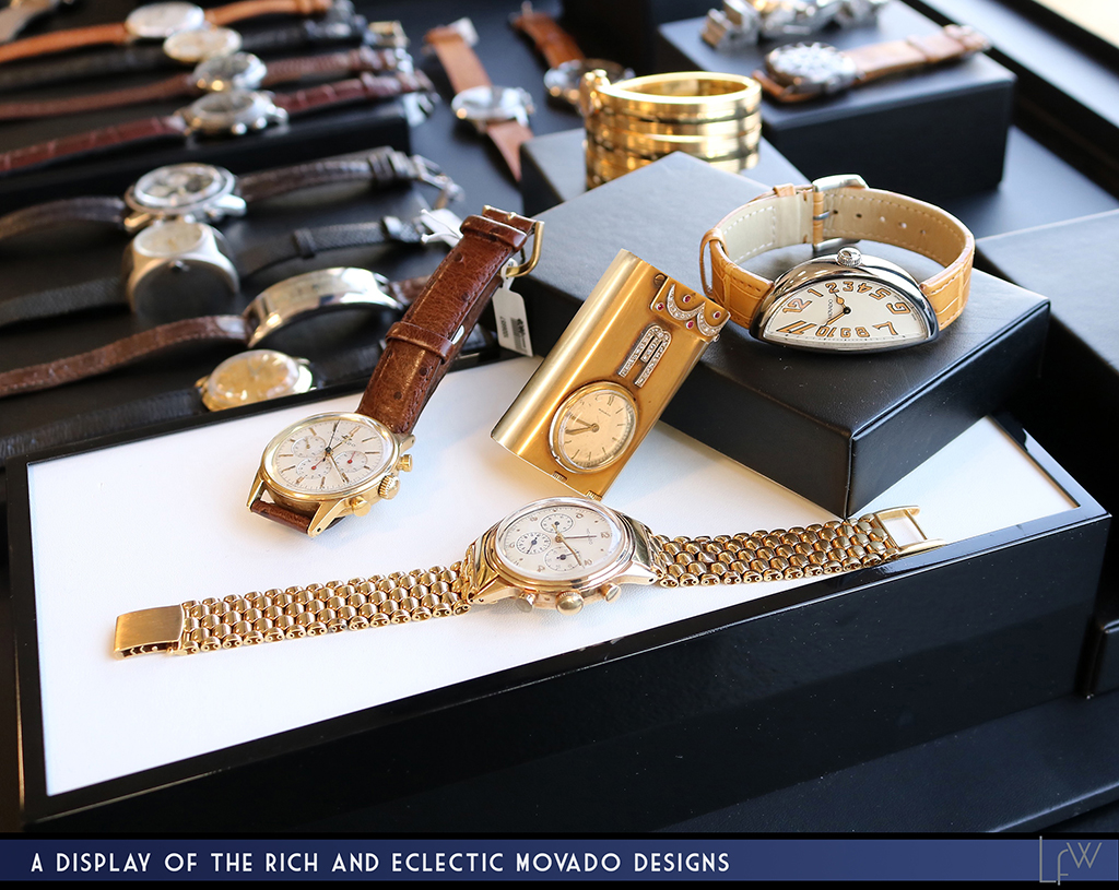 A display of the rich and eclectic Movado designs