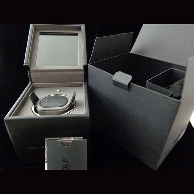 Brand New Wolf Designs Leather Black Module 1 8 Single Watch